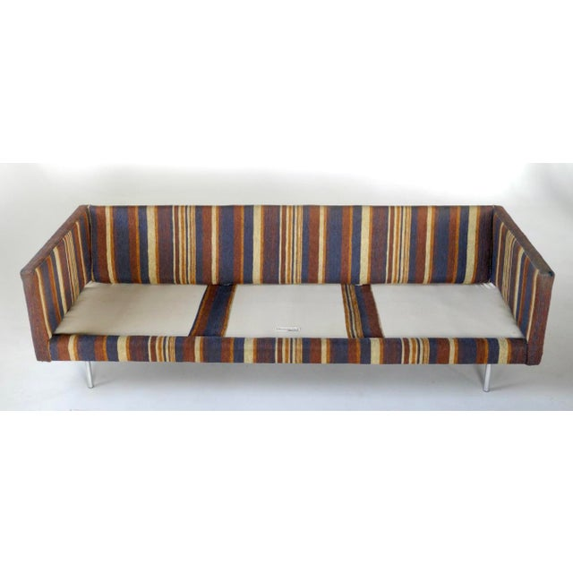 Milo Baughman for Directional Tuxedo Sofa For Sale - Image 5 of 9