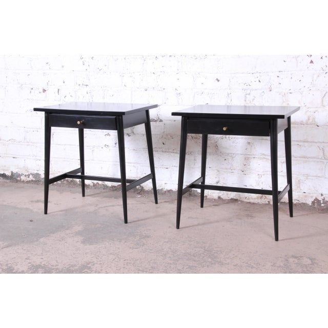 "Winchendon Furniture ""Planner Group"" Paul McCobb Planner Group Nightstands or End Tables - a Pair For Sale - Image 4 of 12"