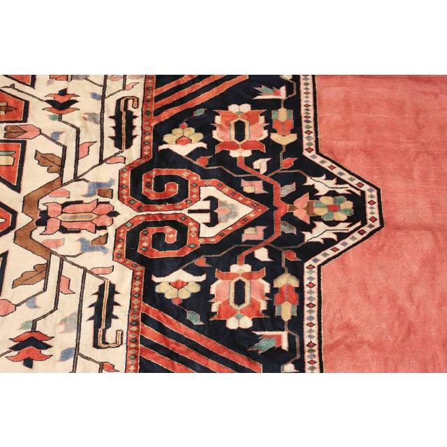 Large Vintage Persian Silk Heriz Rug - 13′1″ × 19′ For Sale - Image 4 of 11