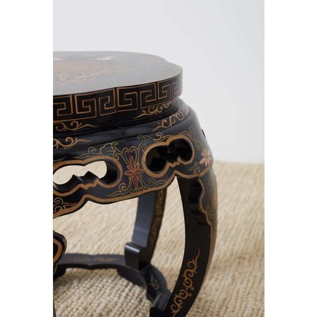 Pair of Polychrome Garden Seats or Drink Tables For Sale - Image 9 of 13