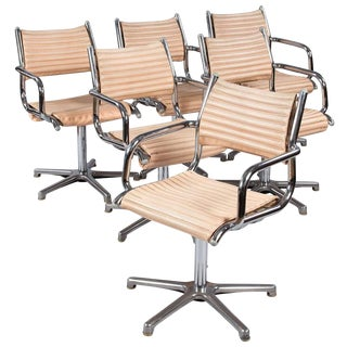 1970s Olymp Chrome Armchairs- Set of 6 - Set of 6 For Sale