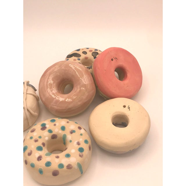 Surface Ceramics Wall Donuts - Set of 6 For Sale In Charleston - Image 6 of 9