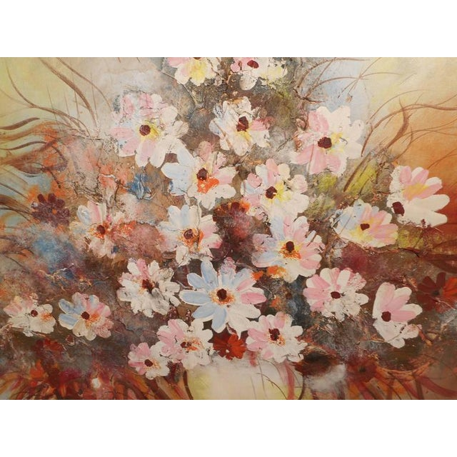 Mid-Century Modern Mid-Century Modern Floral Abstract Painting For Sale - Image 3 of 8