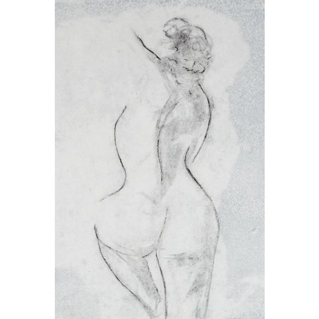 Rob Delamater Figural Charcoal & Ink Drawing - Image 1 of 2