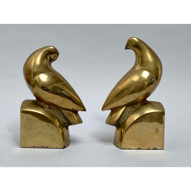 1960s Brass Dove Bookends – a Pair For Sale - Image 5 of 13
