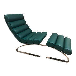 Design Institute of America Lounge Chair With Ottoman For Sale