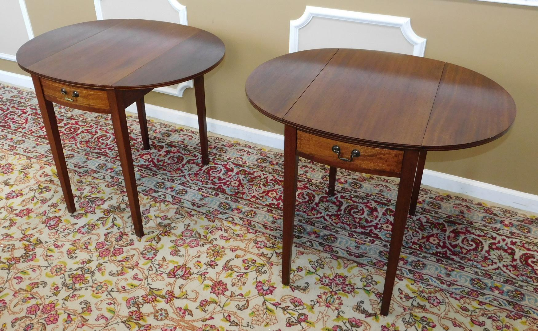 Vintage Federal Style Pembroke Drop Leaf End Tables Pair Chairish