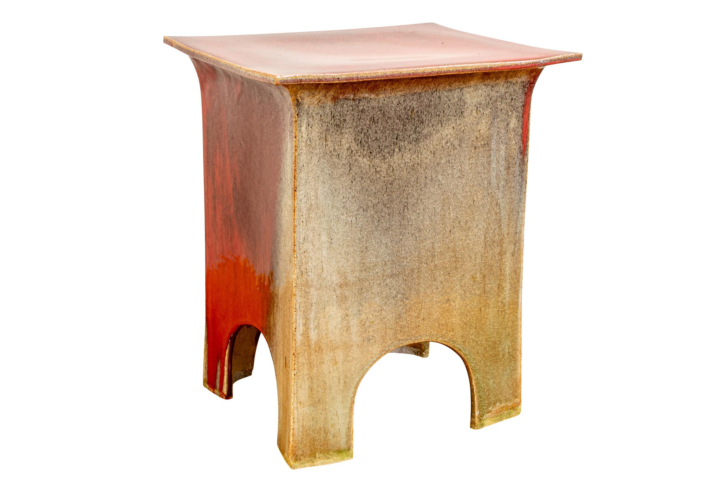 This Japanese Garden Seat Displays A Palette Of Celadon And Sang De Boeuf  Colors And Makes