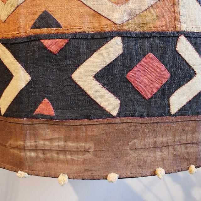Kuba Cloth Drum Shape Chandelier For Sale - Image 5 of 5