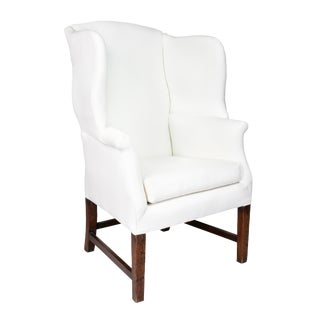 George III Mahogany Wingchair For Sale