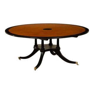 Sheraton Style Round Dining Table For Sale