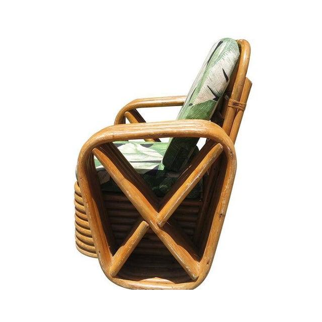 Paul Frankl Restored Paul Frankl Square Pretzel Rattan Children's Lounge Chair For Sale - Image 4 of 5
