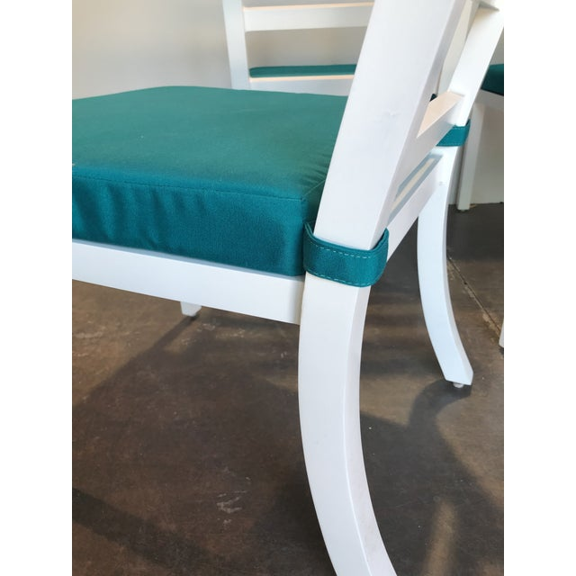 David Francis Outdoor Aluminum Dining Side Chairs - Set of 4 For Sale In West Palm - Image 6 of 8