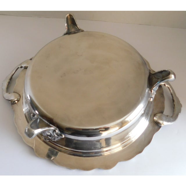 Metal Poole Silver Co. Heavy Silverplate Casserole Dish For Sale - Image 7 of 12