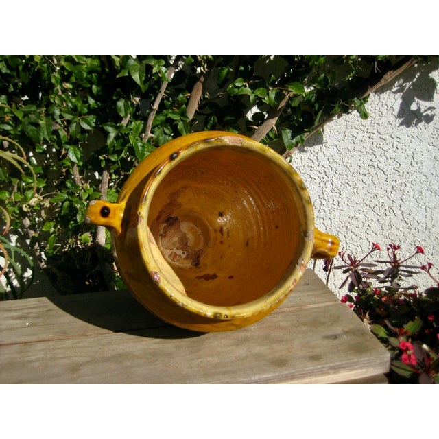 19th Century Country French Rustic Yellow Pot For Sale - Image 4 of 12