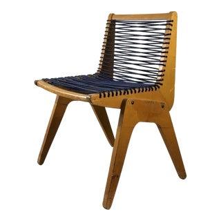 Mid Century Vintage Robert Kayton Plywood Cord Chair For Sale