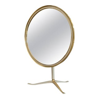 German 1960s Brass Mirror