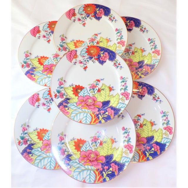Vintage Tobacco Leaf Porcelain Plates - Set of Seven or Eight For Sale - Image 4 of 10