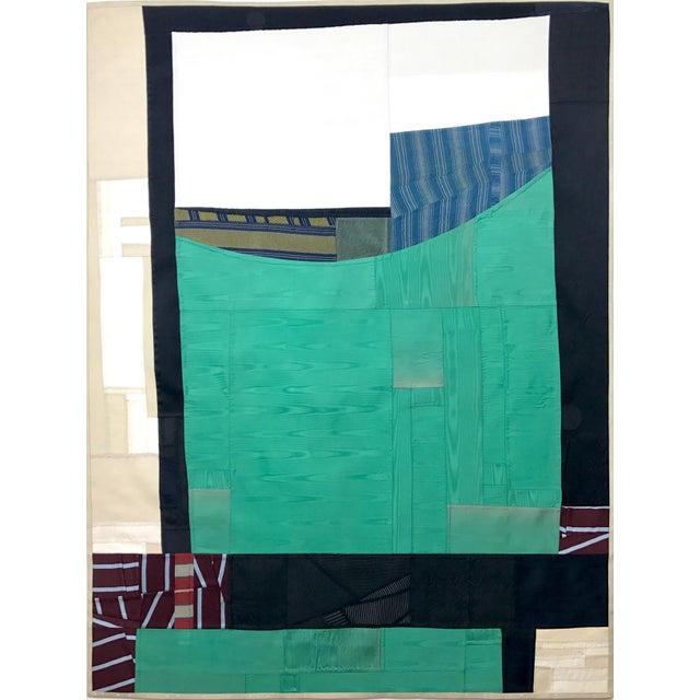 Rising Up, 2017 Pieced vintage silk by Debra Smith.