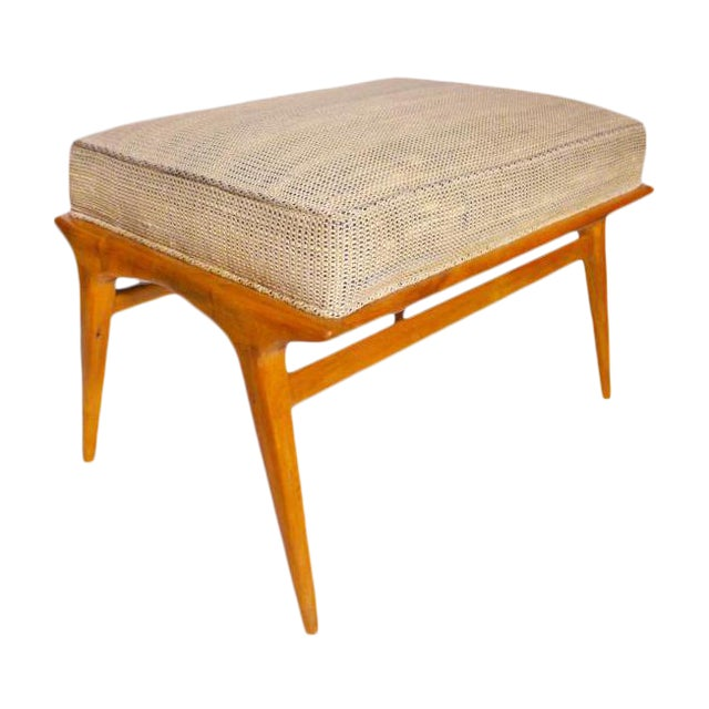1960s Vintage Carlo De Carli Ottoman. Like Gio Ponti in Style. All Original, Including the Fabric For Sale