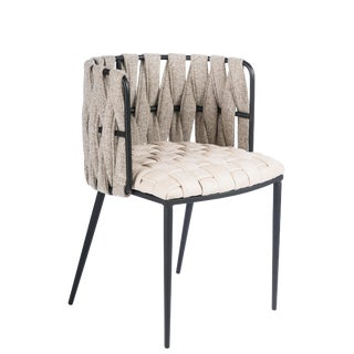 Milano Dining Chair in Off White For Sale