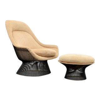 Warren Platner Lounge Chair and Ottoman For Sale