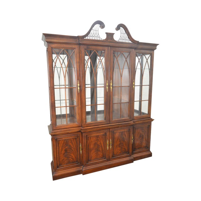 Drexel Heritage Dining Room: Drexel Heritage Mahogany Chippendale Style Breakfront