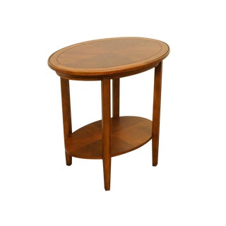 "Stanley Furniture Mahogany 30"" Oval End Table For Sale"