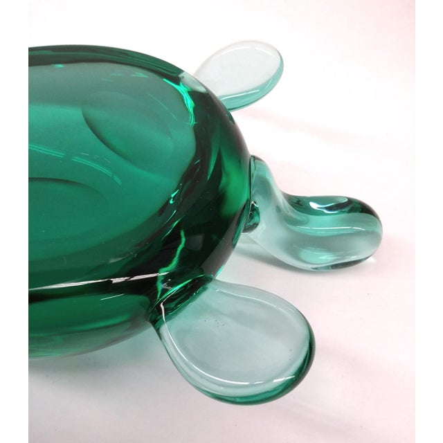 Modern Jade Green Crystal Turtle - Image 5 of 8