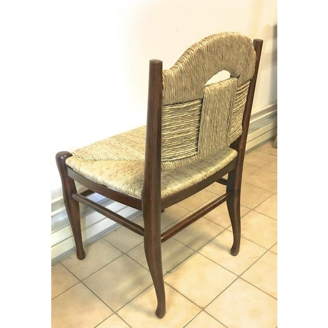 """1950s J.E.Ruhlmann Rare Set of Four Chairs Model """"Rendez-Vous Des Pêcheurs De Truite"""" For Sale - Image 5 of 7"""