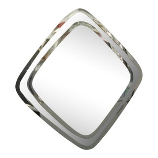 Large Deco Art Framless Wall Mirror With Double Beveled Edge