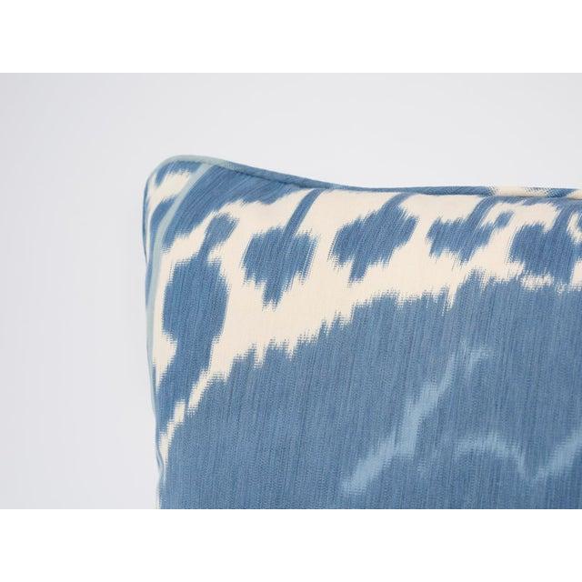 Schumacher Schumacher Pillow in Samarkand Ikat Print For Sale - Image 4 of 6
