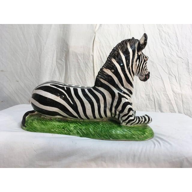 Italian Terra-Cotta Zebra Figurine - Image 4 of 6