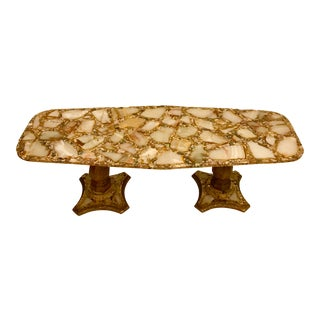 Arturo Pani Abalone and Onyx Coffee Table For Sale