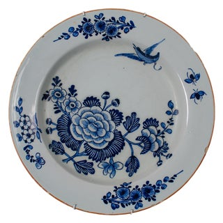 18th Century English Delft Charger For Sale