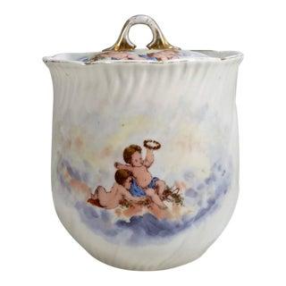 1880 Victoria Carlsbad Austria Porcelain Jar