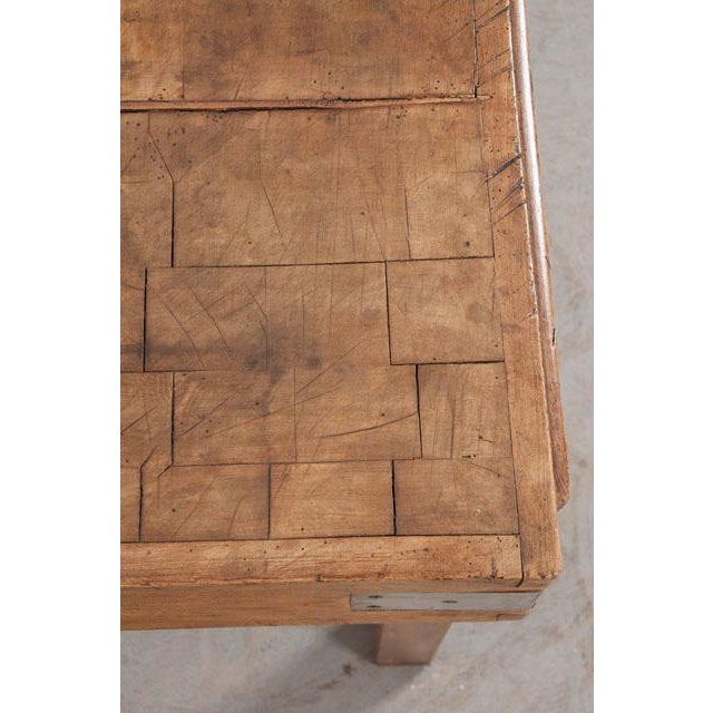 French Early 20th Century Art Deco Pine Butcher Block For Sale - Image 10 of 12