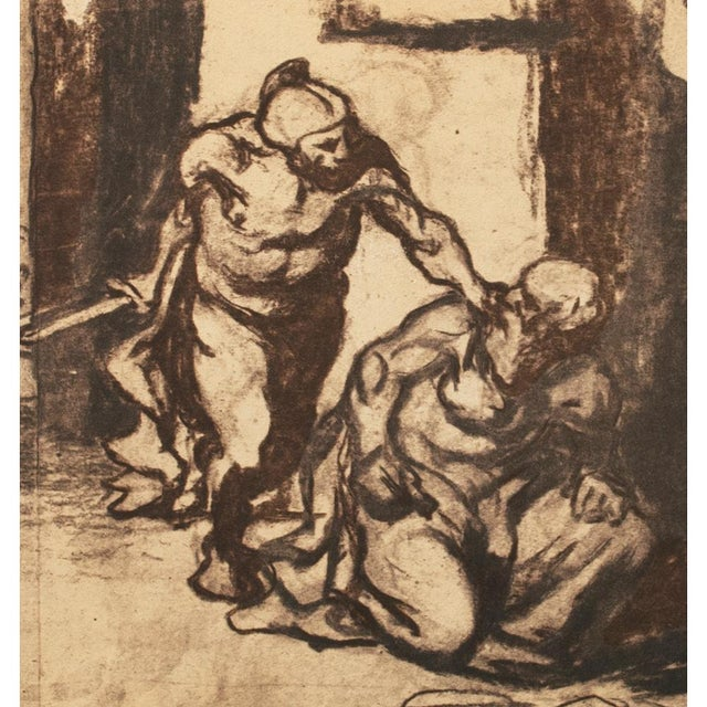 American Classical 1959 Archimedes by Honoré Daumier, Vintage Hungarian Lithograph For Sale - Image 3 of 8