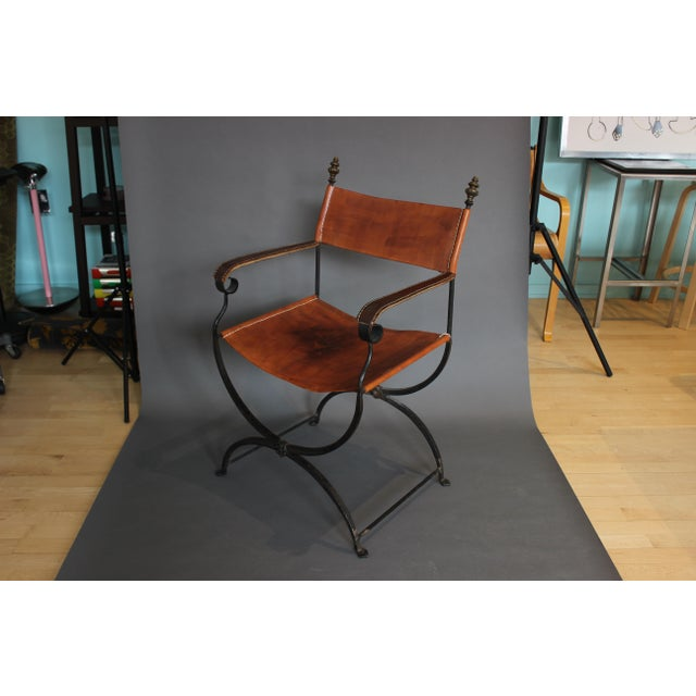 1950s Vintage Italian Renaissance Savonarola Chair For Sale - Image 13 of 13