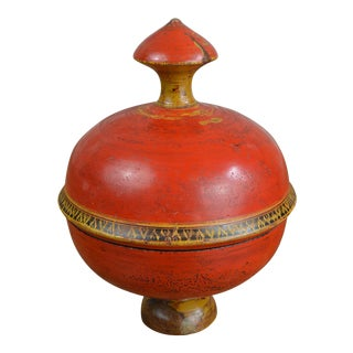 19th Century Afghan Lidded Spice Box For Sale