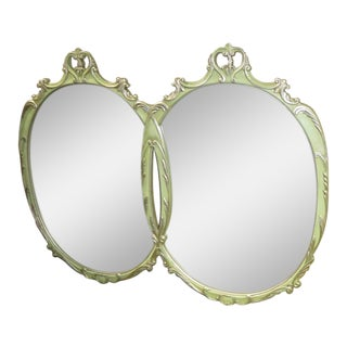 Vintage Romweber Venetian Style Two Section Wall Mirror For Sale