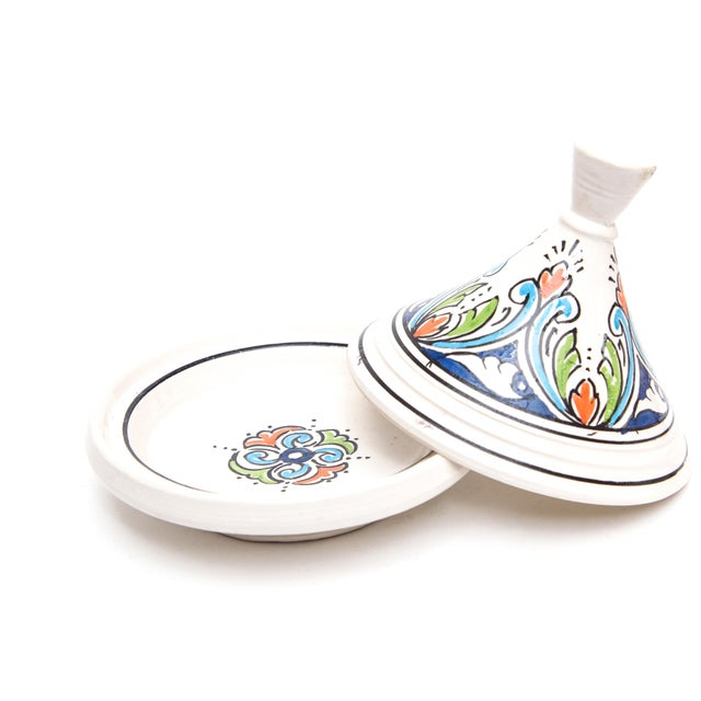 Small Handpainted Moroccan Serving Tajine - Image 3 of 3