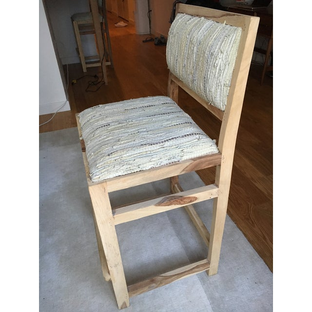 Calypso St. Barth Sandstone Woven Leather Stools - A Pair - Image 4 of 8