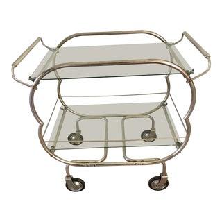 Mid-Century Chrome Bar Tea Cart