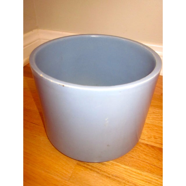 Blue Gainey Ceramics Blue Architectural Pottery Planter For Sale - Image 8 of 11