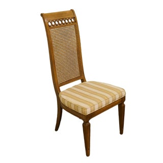 Thomasville Furniture Bellini Collection Cane Back Dining Side Chair For Sale