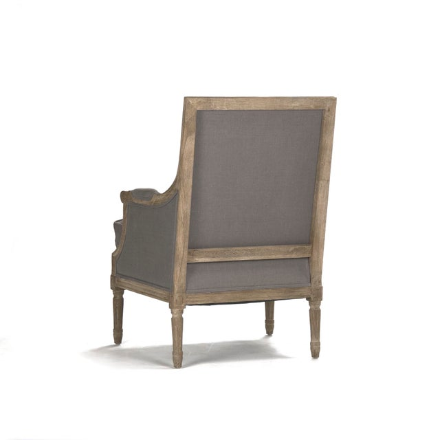 French Country Audley Club Chair in Gray For Sale - Image 3 of 5