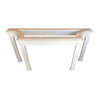 Chinoiserie Newly Lacquered White Fretwork Console Table For Sale