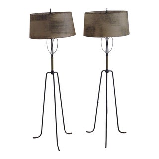 Tommi Parzinger Mid-Century Tripod Lamps - A Pair For Sale