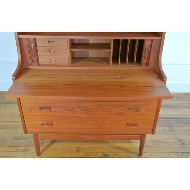 Bornholm Danish Modern Teak Secretary/Bookcase For Sale - Image 6 of 6